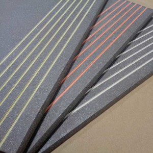 Image of Stair Treads with special glazing in the anti-slip safety grooves.