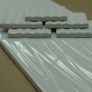 Image of high gloss dimensional bullnose pieces