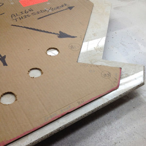 Image of custom bullnose piece fabricated from a template