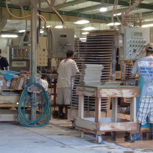 Image of several production lines