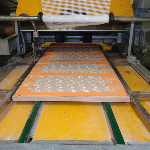 Image of mosaics beginning the meshing and gluing process