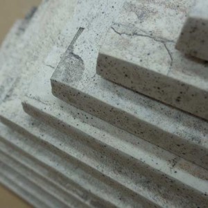 Image of bullnosed distressed-look tiles