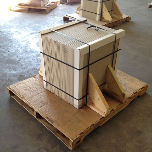 Image of tile packed for shipment