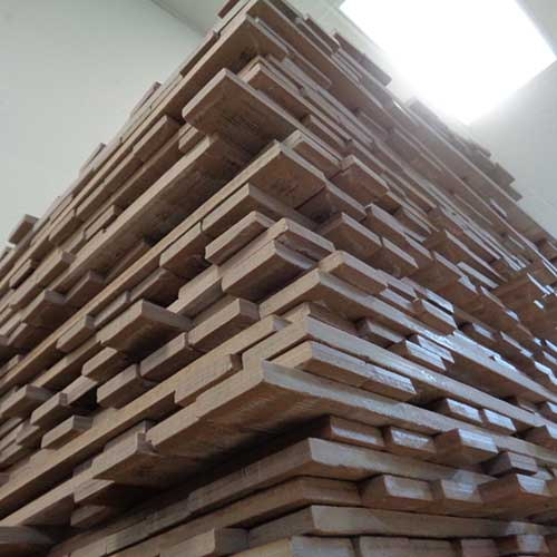 Image of a towering stack of resized tile