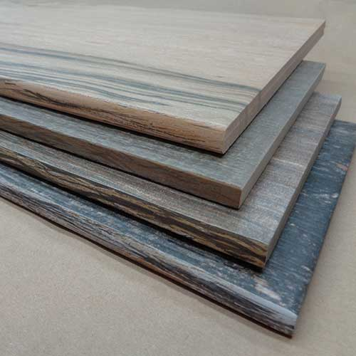 Image of plank tiles with wood-look glaze