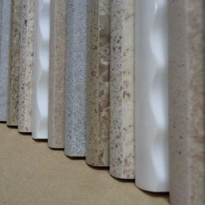 Image of assorted bullnose tile samples