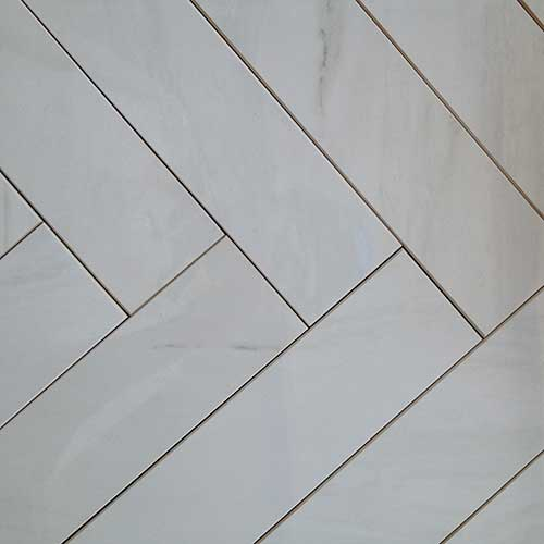 Image of cut down tiles with micro-beveling