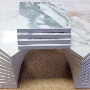 Image of stacked 4x4 cut downs with micro beveled edge