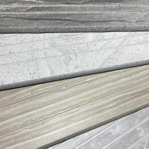 Image of stacked stair tread pieces