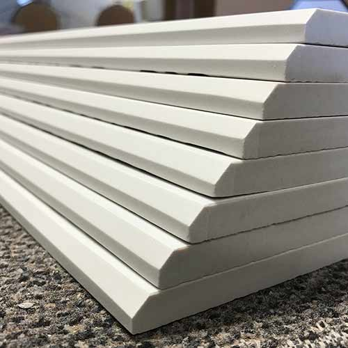 Image of bevel edge pieces in a variety of specifications