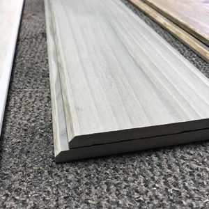 Image of bevel edge plank pieces with wood look glazing